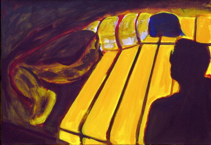 1992 01 01 Voyeur Acryl auf Nessel 70x100 cm