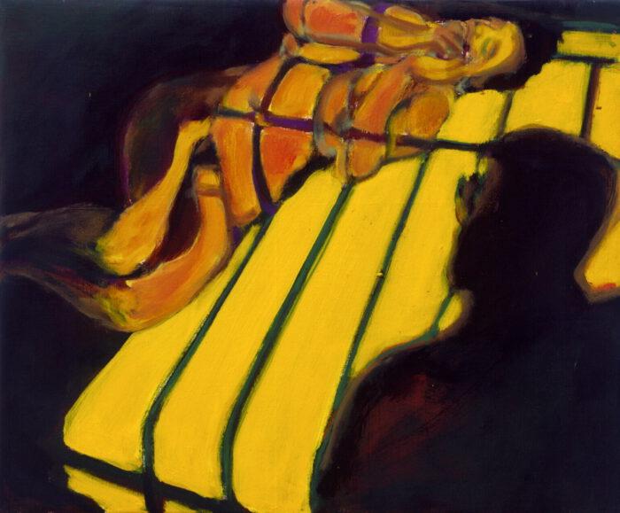 1992 01 02 Voyeur II Acryl auf Nessel 50x60 cm