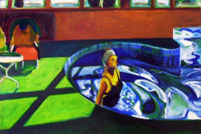 1992 03 01 Swimmingpool Ulla Öl auf Leinwand 80x120 1