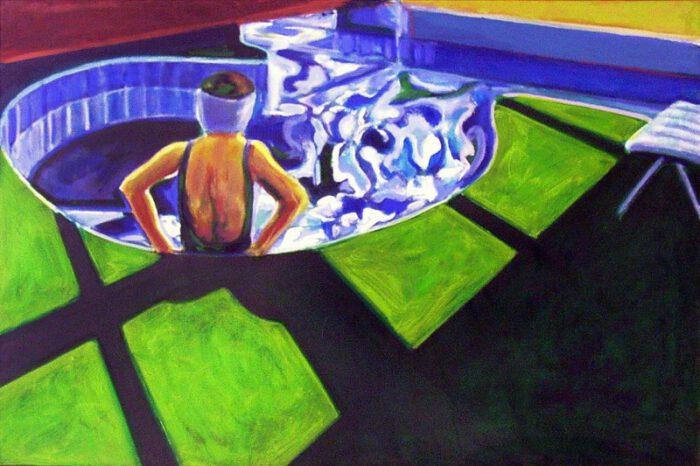 1992 03 02 Swimmingpool Ulla IV Öl auf Leinwand 80x120 1