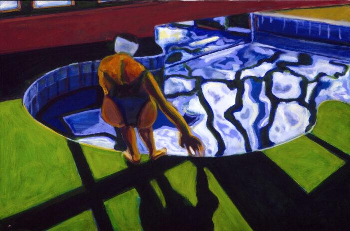 1992 03 03 Swimming Pool Ulla III Öl auf Leinwand 80x120 cm