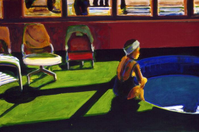 1992 03 04 Swimming Pool Ulla I Öl auf Leinwand 80x120 cm