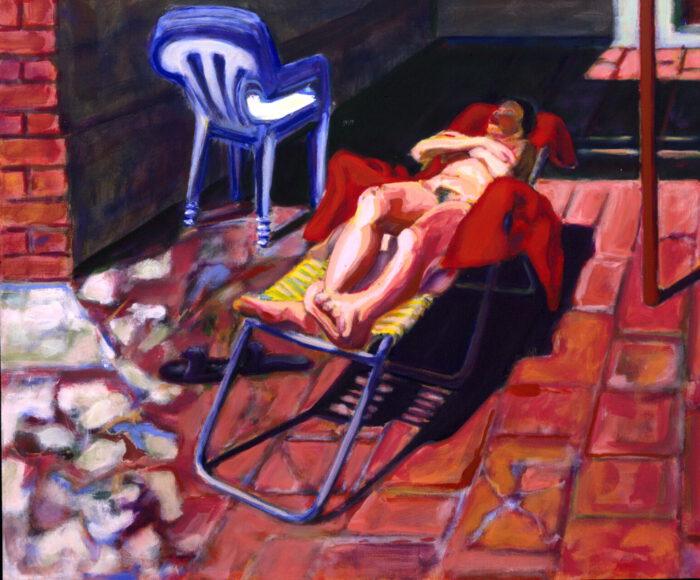 1992 05 01 Casa Testaferrata Acryl auf Leinwand 100x120 cm