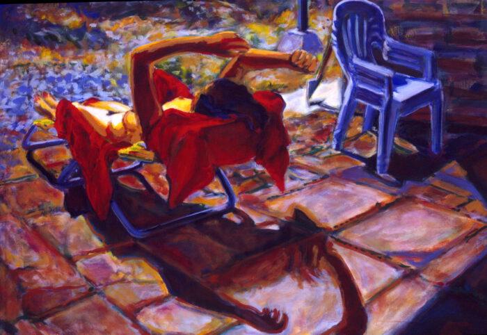 1992 05 02 Testaferrata Liegende Acryl auf Leinwand 70x100 cm