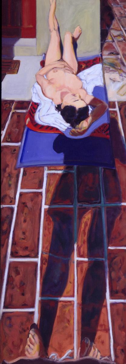 1992 05 10 o.T. Liegende Acryl auf Leinwand 170x60 cm