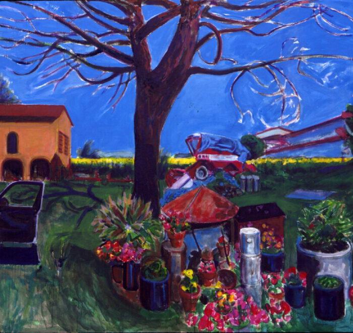1992 06 02 Mario Tabaccaja Acryl auf Leinwand 204x204 cm