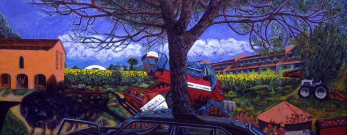 1992 06 02 Mario Tabaccaja Acryl auf Leinwand 204x492 cm