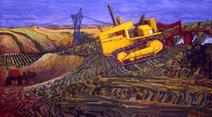 1992 09 01 Raupe Öl auf Leinwand 172x300 cm
