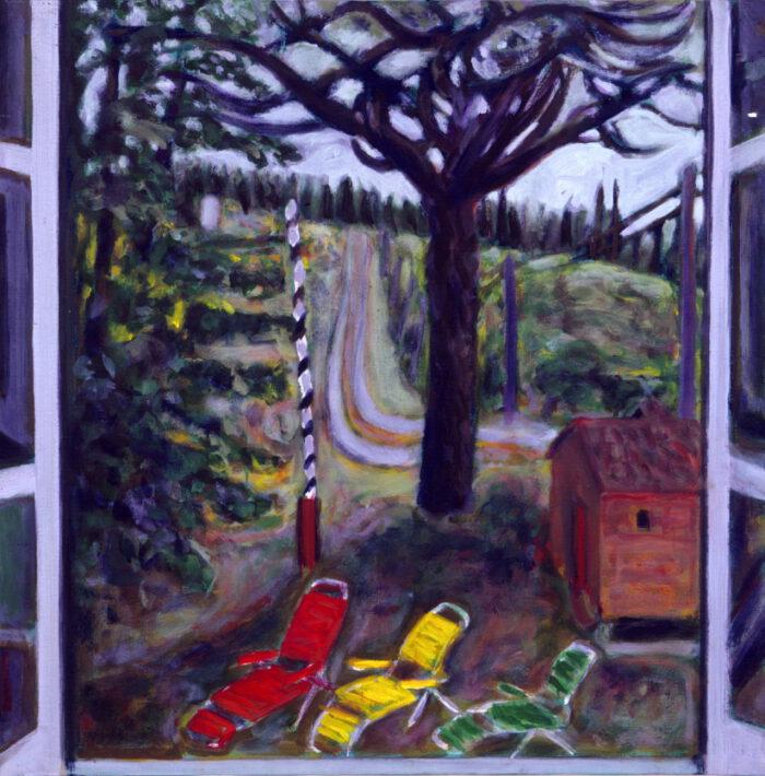 1992 10 01 Via Meleto Acryl auf Leinwand 70x70 cm