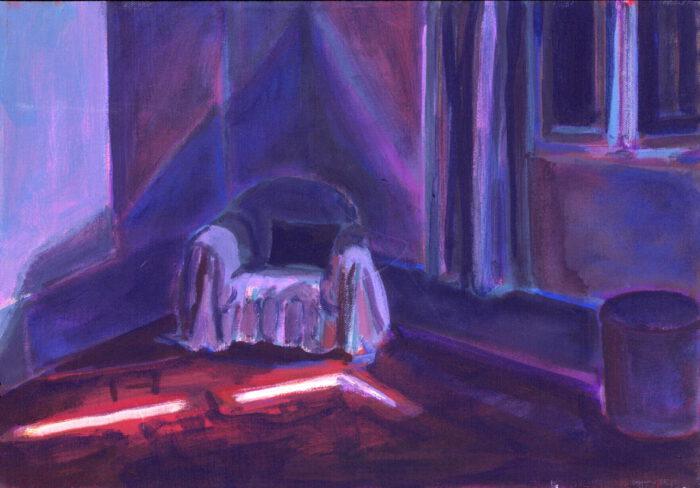 1992 10 04 August Acryl auf Nessel 35x50 cm