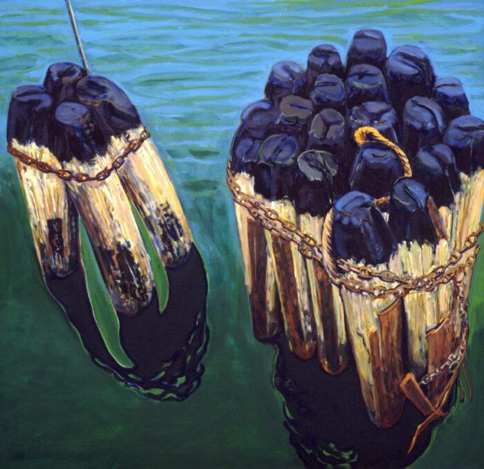 1992 14 01 Poller Öl auf Leinwand 230x240 cm