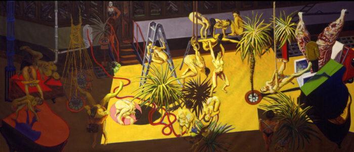 1992 20 01 Casa Testaferrata Öl auf Leinwand 301x537 cm
