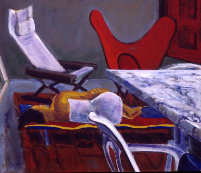 1993 02 05 Testa I Acryl auf Leinwand 60x70 cm