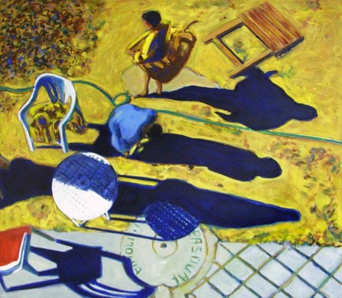 1993 03 02 Gold Schatten Öl auf Leinwand 93x107 1