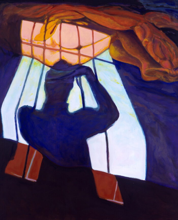 1993 03 04 Schatten Acryl auf Leinwand 120x100 cm