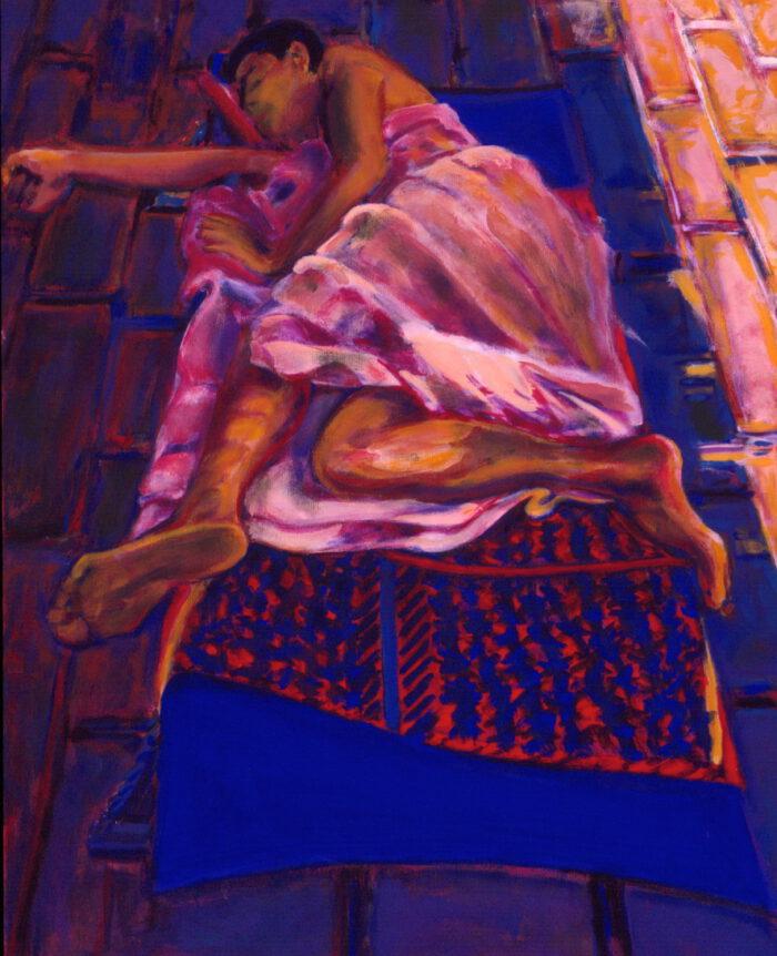 1993 03 05 Casa IV Acryl auf Leinwand 100x80 cm