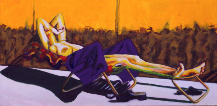 1993 03 06 o.T. Acryl auf Leinwand 60x120 cm