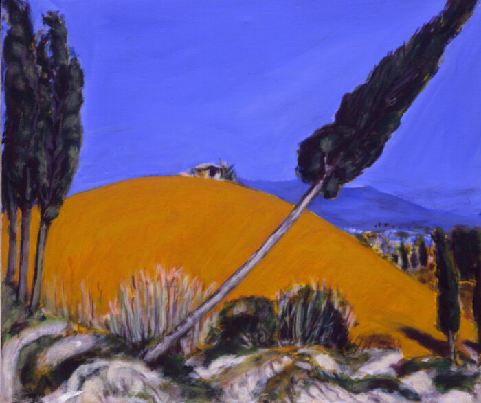 1993 04 06 o.T. Acryl auf Leinwand 60x70 cm