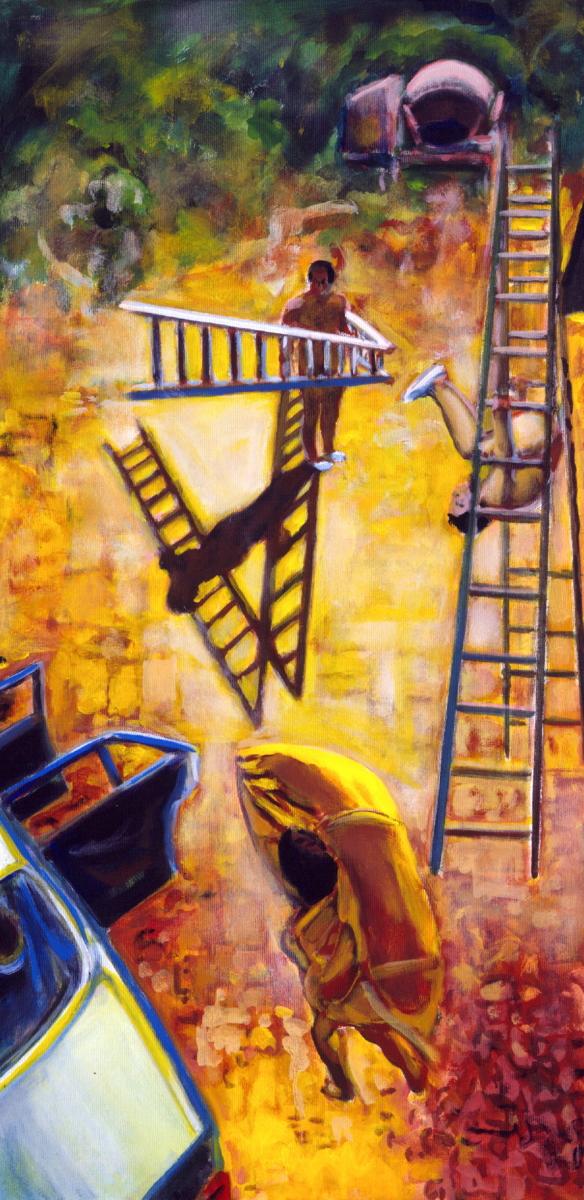 1993 04 12 Testa Öl auf Leinwand 120x60 cm