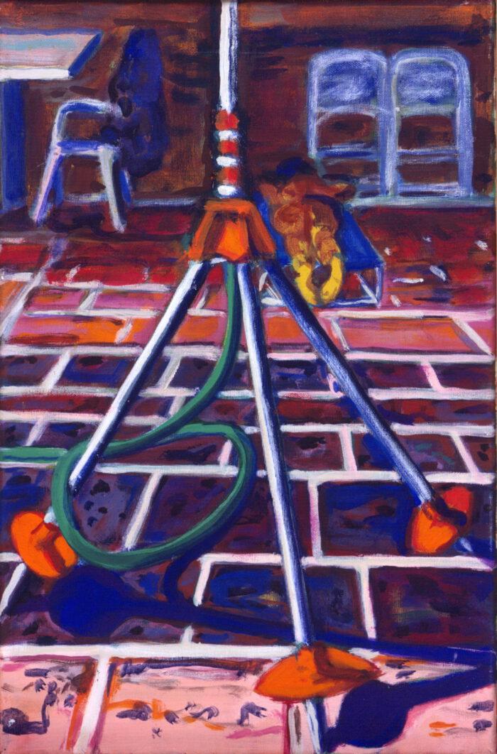 1993 05 17 o.T. Acryl auf Leinwand 40x80 cm