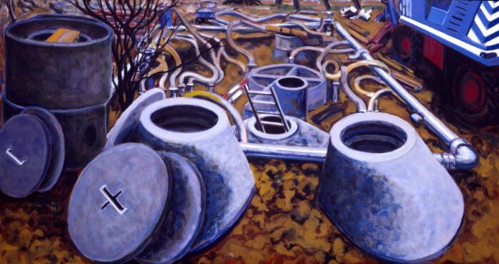 1993 12 01 o.T. Acryl auf Leinwand 120x220 cm