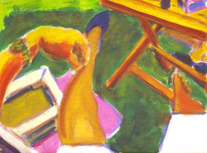 1993 13 01 Testa Acryl auf Leinwand 18x24 cm