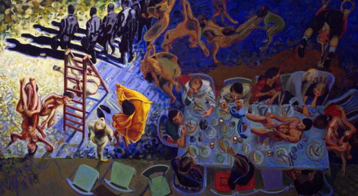 1993 15 01 Abendmahl Öl auf Leinwand 310x500 cm