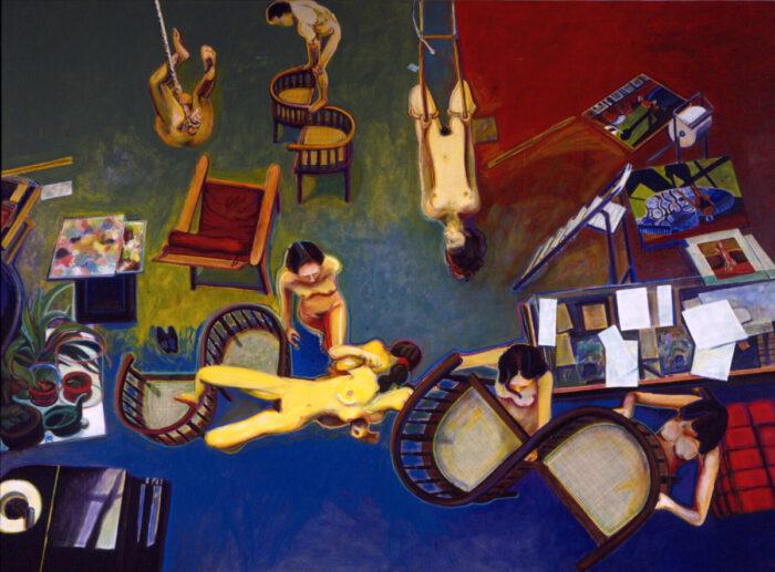 1993 18 01 Tadeuszene Acryl Öl auf Leinwand 300x400 cm