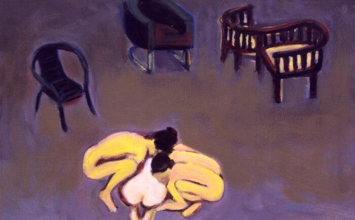 1993 18 05 o.T. Atelier 3 Öl auf Leinwand 35x55 cm