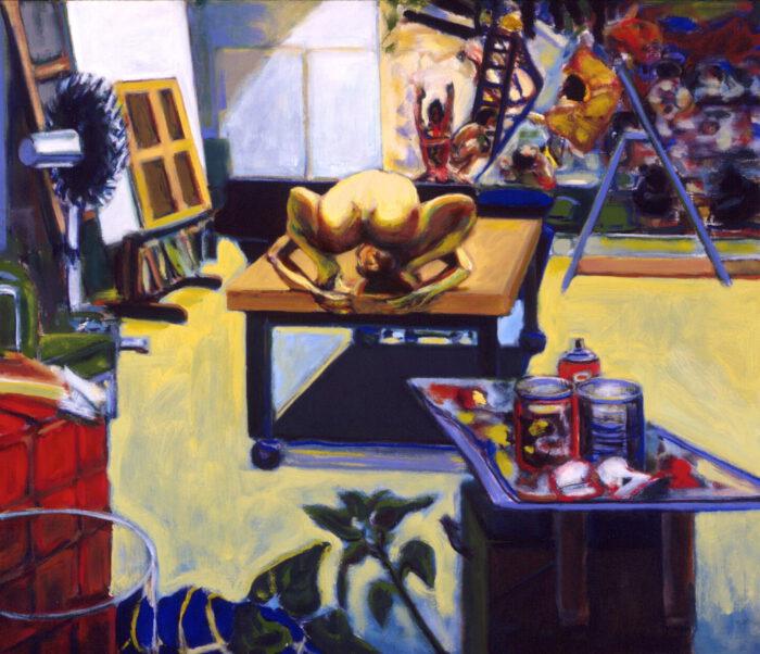 1993 19 01 Atelier Akt Öl auf Leinwand 90x100 cm