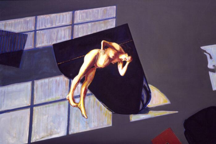 1994 01 06 Schwebend IX. Öl auf Leinwand 140x206 cm