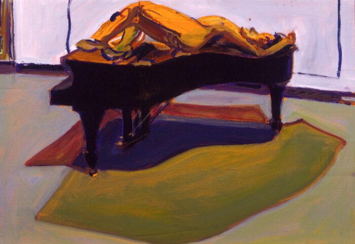 1994 01 10 Flügelgewächs XVII. Öl Ölkreide auf Leinwand 38x55 cm