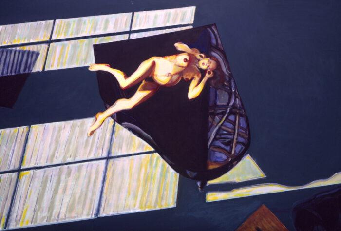 1994 01 13 Atelier Fenster XVI Öl auf Leinwand 138x200 cm