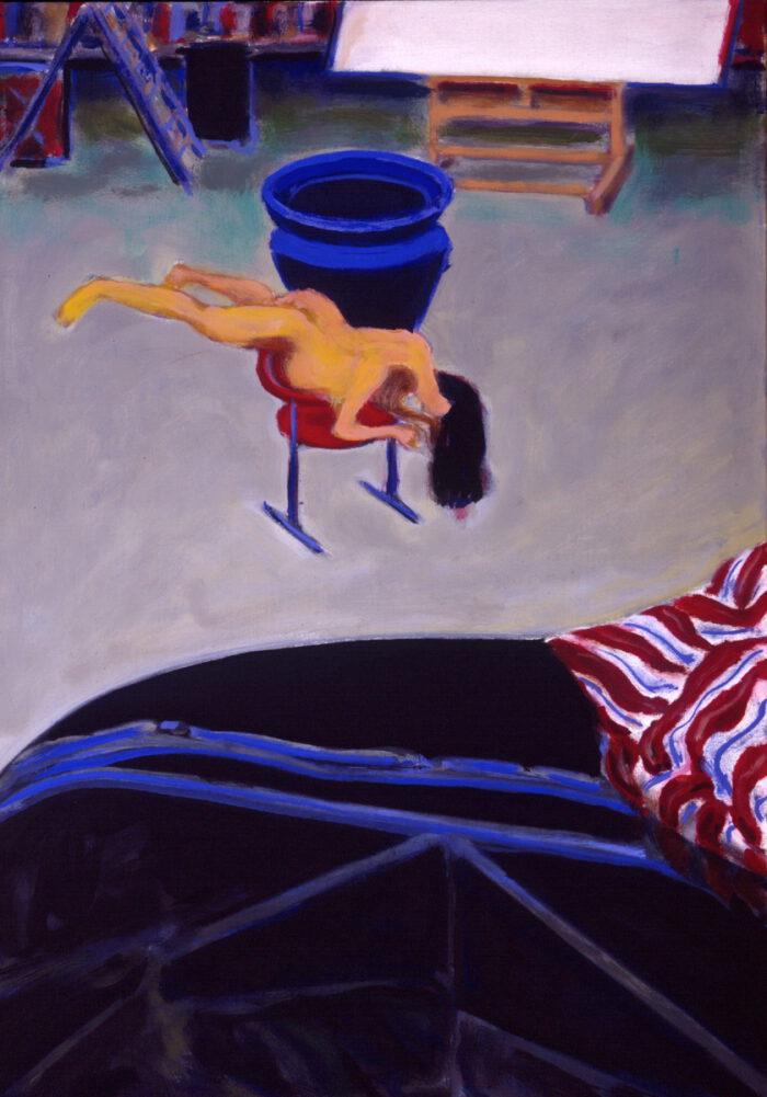 1994 01 17 Blaue Vase Öl auf Leinwand 92x64 cm