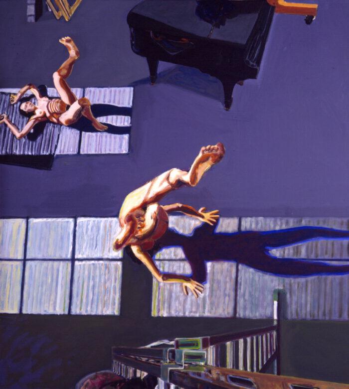1994 02 04 Zweimal mit Flügel XXI. Öl auf Leinwand 220x200 cm