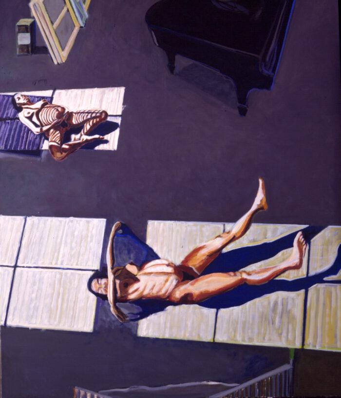 1994 02 08 Zweimal von der Leiter XXX. Öl auf Leinwand 234x195 cm