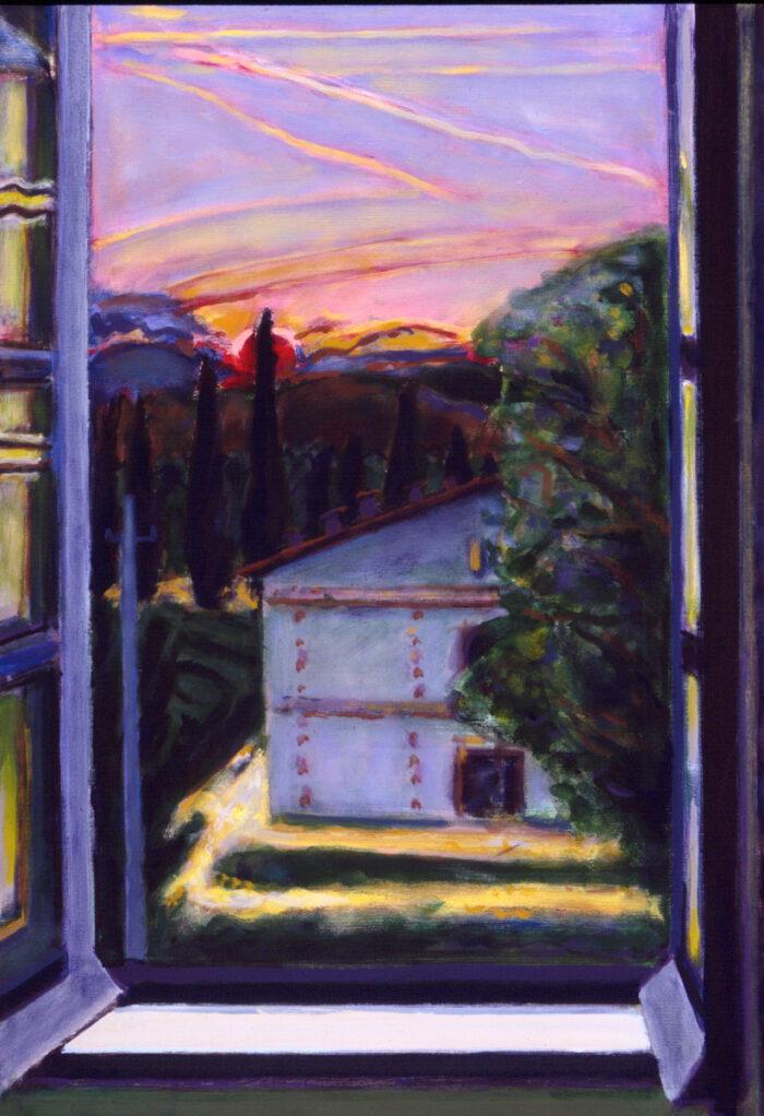 1994 05 11 Fenster Acryl auf Leinwand 100x70 cm