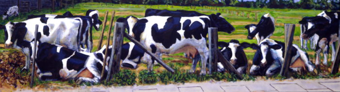 1994 06 01 Schwarzbunte Öl auf Leinwand 125x425 cm