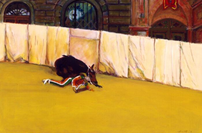 1995 01 12 Cavallo 3 Öl auf Leinwand 100x150 cm