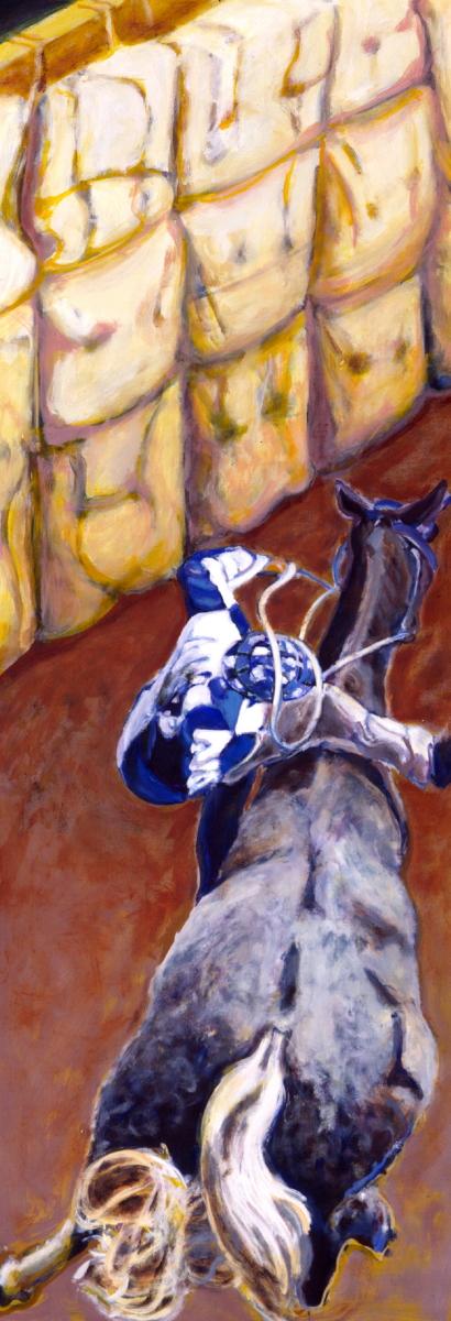 1995 01 16 Cavallo 6 Öl auf Leinwand 195x70 cm