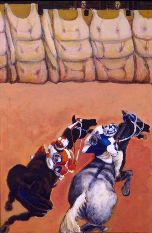 1995 01 17 Cavalli 8 Acryl auf Leinwand 150x99 5 cm