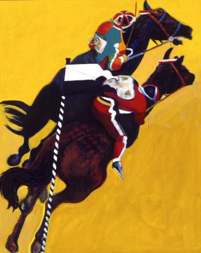 1995 01 25 Cavalli 11 Acryl auf Leinwand 162x130 cm