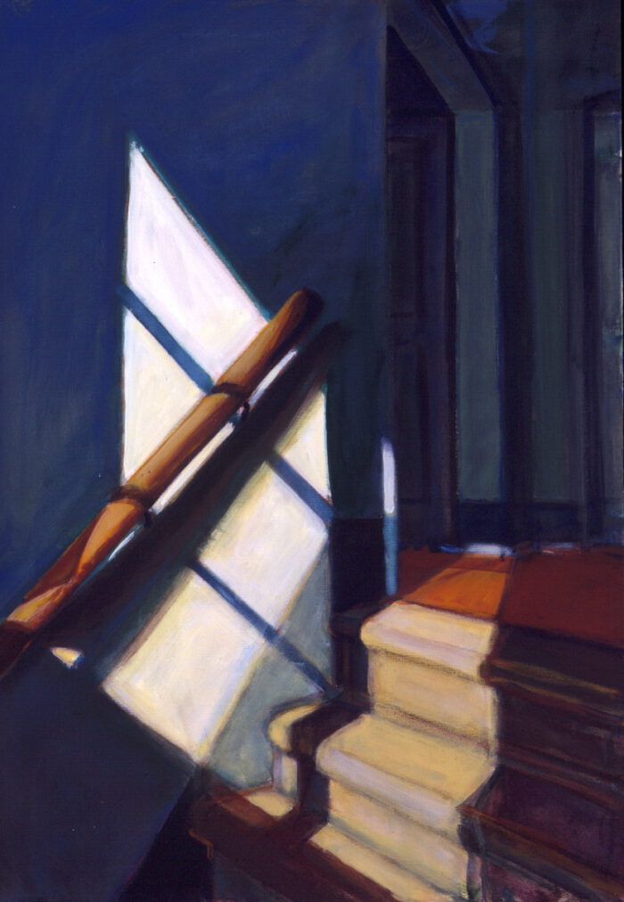 1995 02 02 Handlauf Testa I Acryl auf Leinwand 100x80 cm