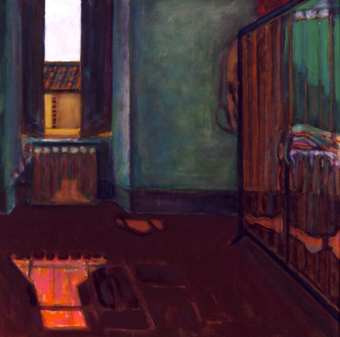 1995 02 05 o.T. Acryl auf Leinwand 99x99 cm