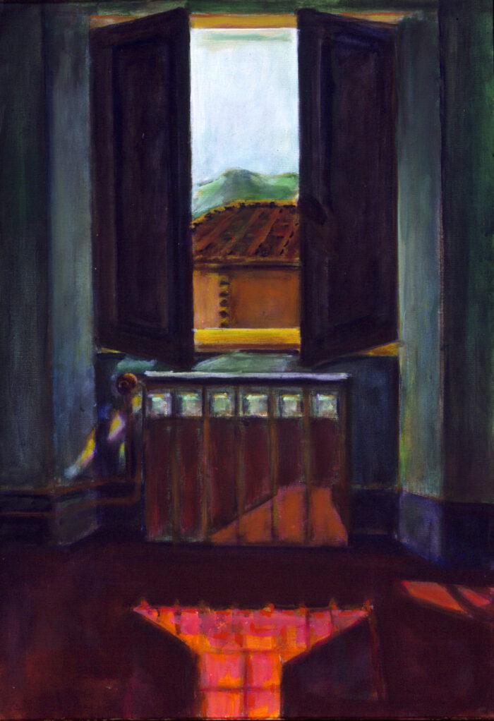 1995 02 06 Fenster 8Testa Acryl auf Leinwand 100x70 cm