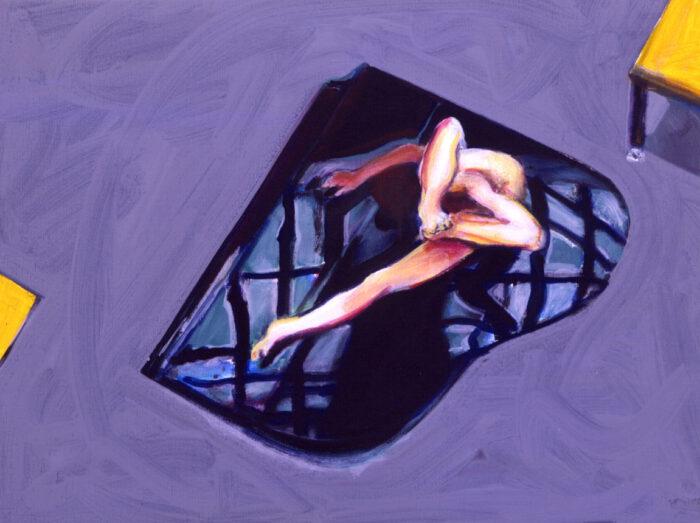 1995 06 03 o.T. Acryl auf Leinwand 60x80 cm
