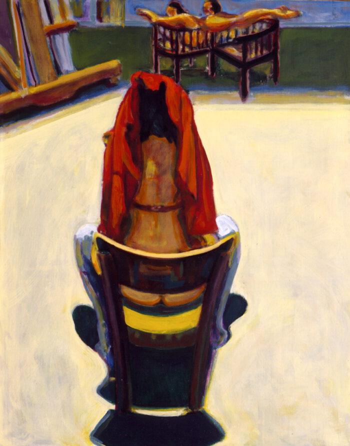 1995 09 01 Berlinerin Öl auf Leinwand 100x80 cm