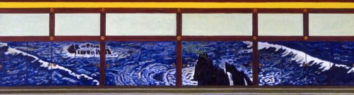 1995 11 01 Jap. Tempel Öl auf Leinwand 148x525 cm