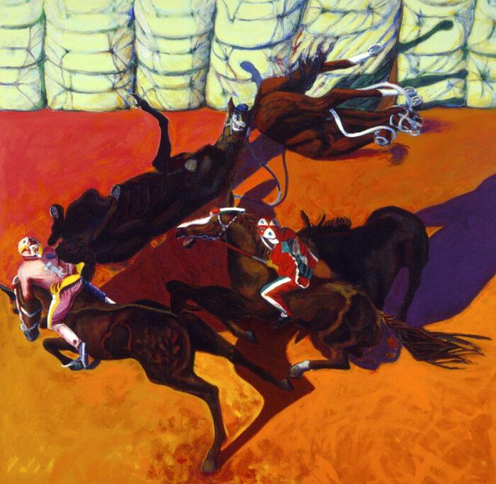 1996 01 01 Cavalli 11 Acryl auf Leinwand 295x295 cm