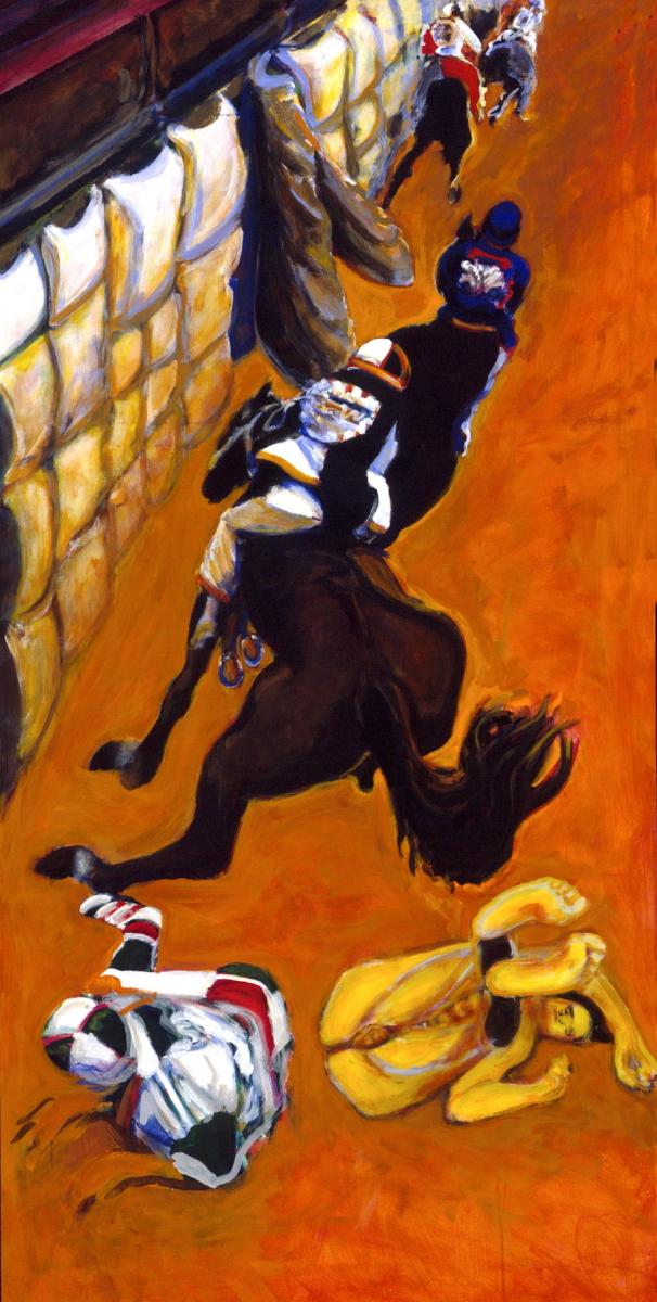 1996 01 03 Cavalli 27Acryl auf Leinwand 200x100 cm